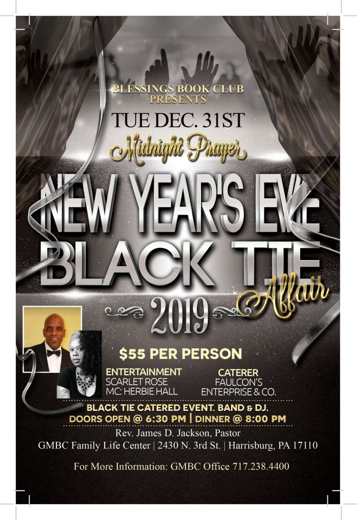 New Year's Eve Black Tie @ GMBC Family Life Center